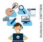 search engine optimization... | Shutterstock .eps vector #258773846