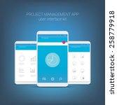 flat design user interface for...