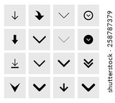 down arrow download icon set.... | Shutterstock .eps vector #258787379