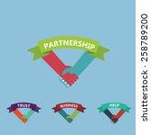 vector of human handshake ... | Shutterstock .eps vector #258789200