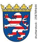 coat of arms of hesse  hessen ... | Shutterstock .eps vector #258789644