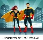 superheroes vector colorful... | Shutterstock .eps vector #258796160