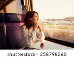 young woman traveling  looking