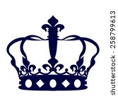 blue crown icon | Shutterstock .eps vector #258799613