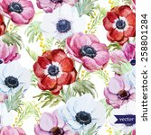 Watercolor  Flowers  Anemones ...