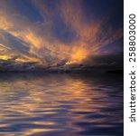 Beautiful Sunset Sky And Water...