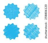 empty vector blue shaded label... | Shutterstock .eps vector #258806120