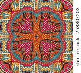 abstract tribal geometric... | Shutterstock .eps vector #258807203