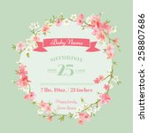 baby shower or arrival cards  ... | Shutterstock .eps vector #258807686