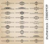 vector set of 27 ornate... | Shutterstock .eps vector #258809939