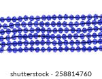 blue beads on a white background | Shutterstock . vector #258814760