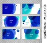 invitation card design with... | Shutterstock .eps vector #258815618
