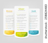 bright pricing table  banner ... | Shutterstock .eps vector #258824483