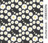 white daisies flower seamless... | Shutterstock .eps vector #258830096