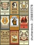 beer labels set. set contains... | Shutterstock .eps vector #258855578
