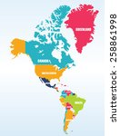map of north and south america | Shutterstock .eps vector #258861998