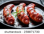 grilled sausage with fresh...