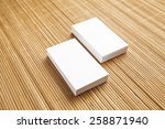 business cards blank mockup  ... | Shutterstock . vector #258871940
