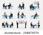 business people in office ... | Shutterstock .eps vector #258874574