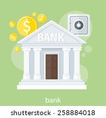 Bank Office Symbol With Atm...