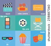 color icons cinema  3d  ...