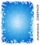 snow winter frame   border with ... | Shutterstock . vector #258899639