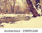 Winter Scene On A Boulder...
