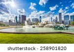 Buckingham Fountain And Chicag...
