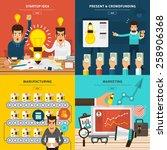 flat design concept for startup ... | Shutterstock .eps vector #258906368