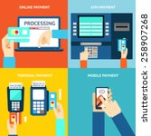 payment methods. business and... | Shutterstock .eps vector #258907268