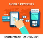mobile payments and near field... | Shutterstock .eps vector #258907304