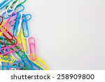 paper clip with copy space | Shutterstock . vector #258909800
