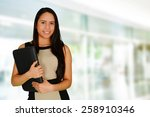 business woman at the office... | Shutterstock . vector #258910346