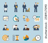 effective office hours  time... | Shutterstock .eps vector #258917090