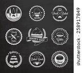 vintage bakery badges  labels... | Shutterstock .eps vector #258917849