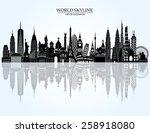 world skyline detailed... | Shutterstock .eps vector #258918080