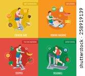 exercise machines design... | Shutterstock .eps vector #258919139
