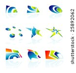 set of colorful design elements | Shutterstock . vector #25892062