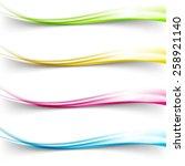 modern bright colorful satin... | Shutterstock .eps vector #258921140