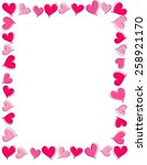 hand drawn pink and red heart... | Shutterstock .eps vector #258921170