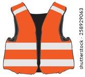 Orange Safety Vest Vector...