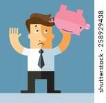 businessman shaking an empty... | Shutterstock .eps vector #258929438