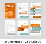 set of infographic business... | Shutterstock .eps vector #258930509