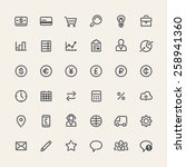 Set Of Flat Icons For Business...