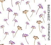 watercolor pattern floral... | Shutterstock .eps vector #258943598