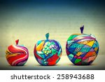 Wooden Apples Painted By Hand....