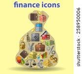finance composition   Shutterstock .eps vector #258950006