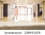 desk space and woman  | Shutterstock . vector #258951029