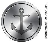 Anchor Icon. Internet Button O...