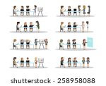 business people  different... | Shutterstock .eps vector #258958088